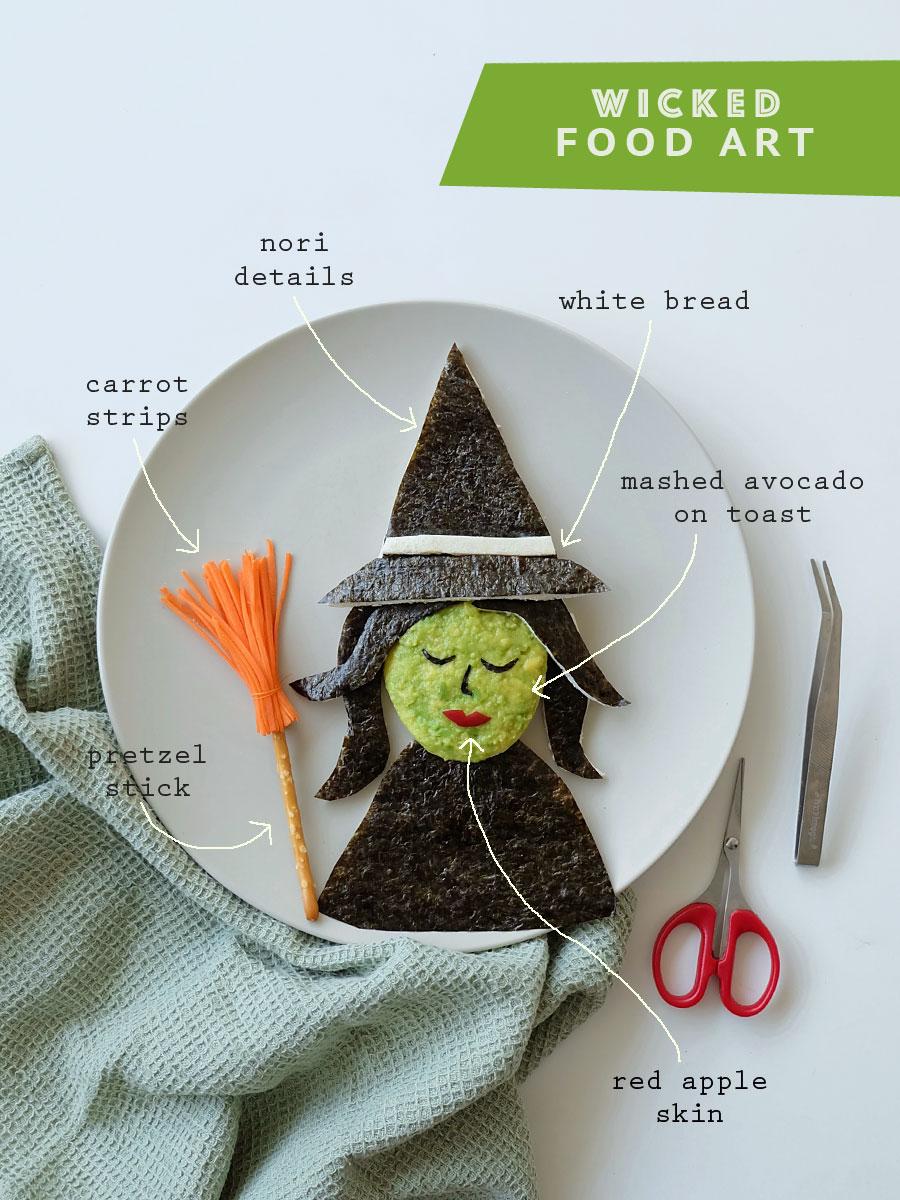 Wicked Musical Elphaba Bento Food Art
