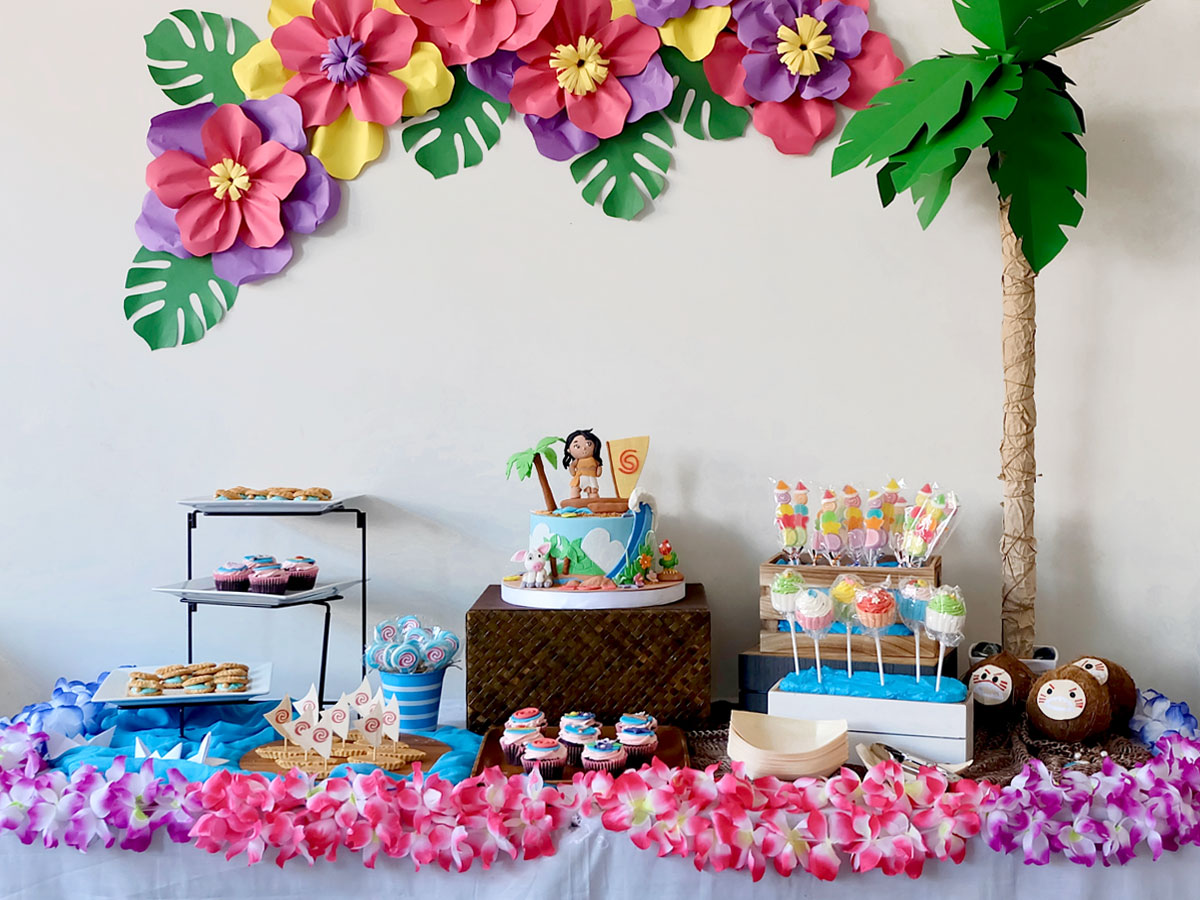 Moana Party Ideas Dessert Buffet
