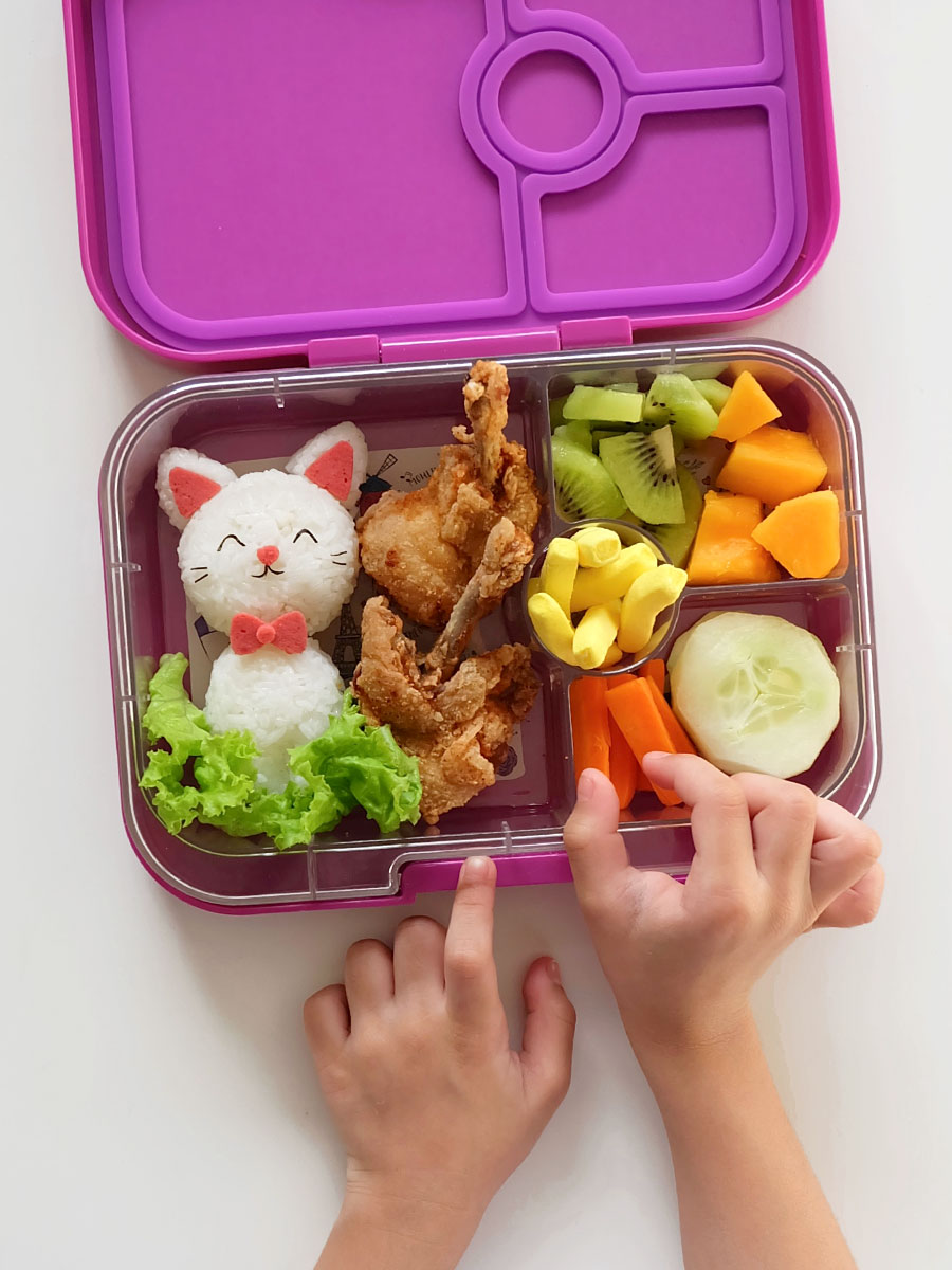 Cat Bento Food Art Inside Yumbox Panino