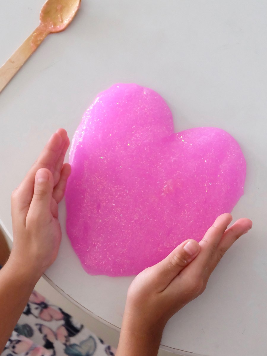 Mess-Free Glitter Slime with only 3 Ingredients