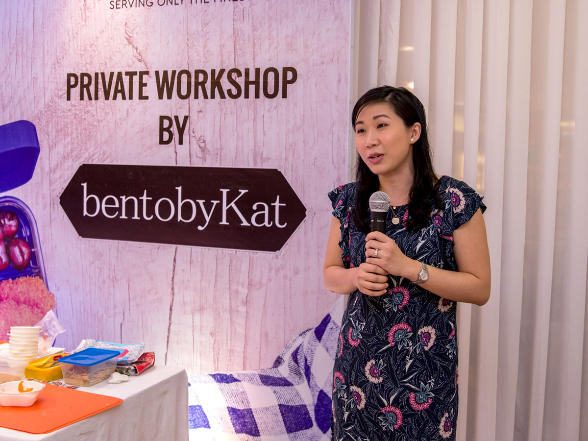 Cheryl Sy at the First Yumbox Workshop with Bright Brands and Bento by Kat