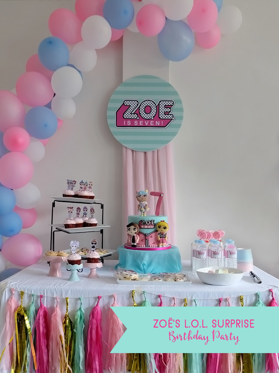 Zoë's L.O.L. Surprise Birthday Party: DIY Party Decor