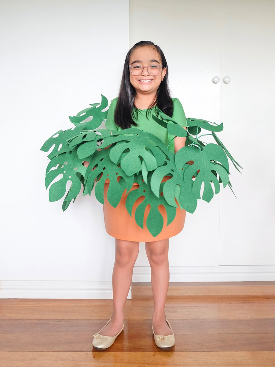 DIY Monstera Deliciosa Costume by A Crafted Lifestyle